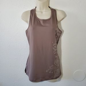 Tail Work Out Tank Top Brown Silver Size M